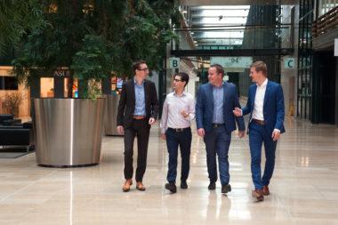 Patrick van Gerven, Najib Damghi, stef Jansen in de Wal en Jethro van der Veer